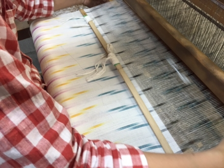 オリジナル絣布をつくっています