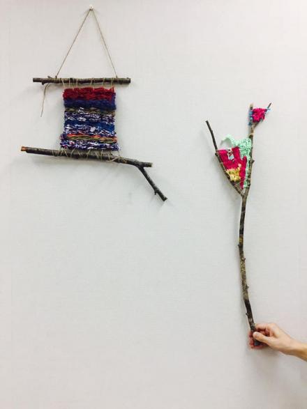 進化する小枝の裂織り