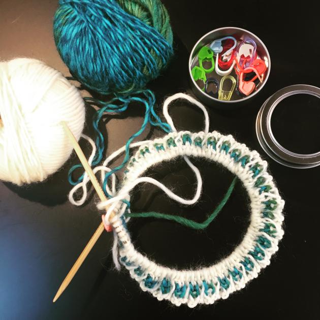 編み物ワークショップ開催