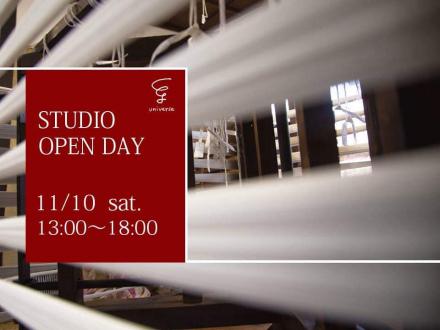 スタジオオープンのお知らせ