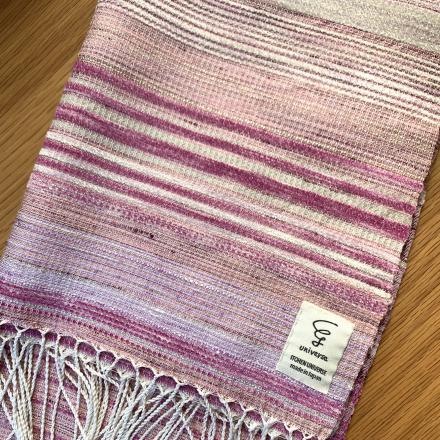 手織りシルクストールを納品しました