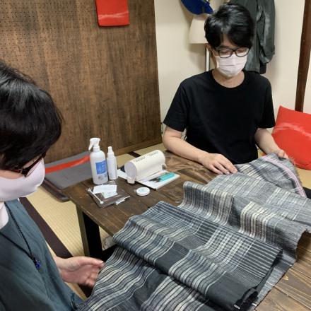 手織りオーダーストールをお納めしました